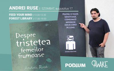 Andrei Ruse író az AWAKE fesztiválon