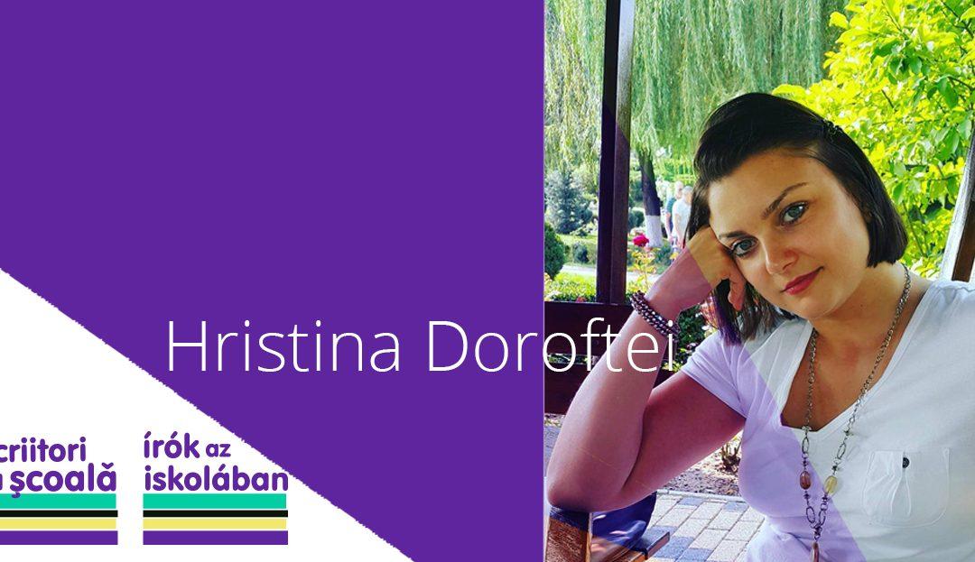 Hristina Doroftei és Radu Țuculescu leszaz Írók az iskolában projekt következő két vendége